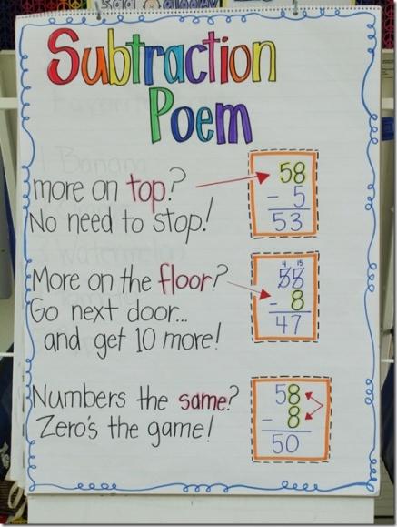 subtraction poem