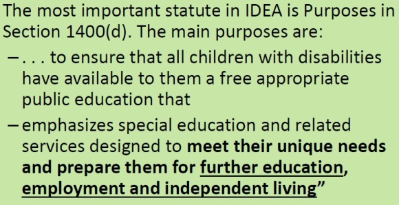 purspose of special education