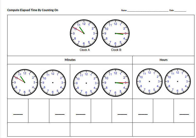 Elapsed time scaffolded