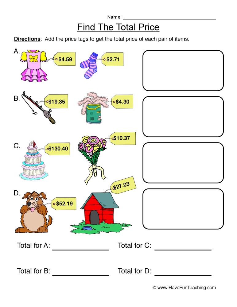 adding-money-worksheet-1
