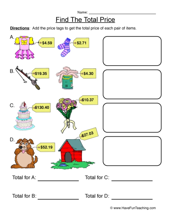 adding-money-worksheet-1