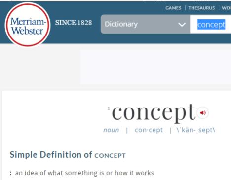 definition concept