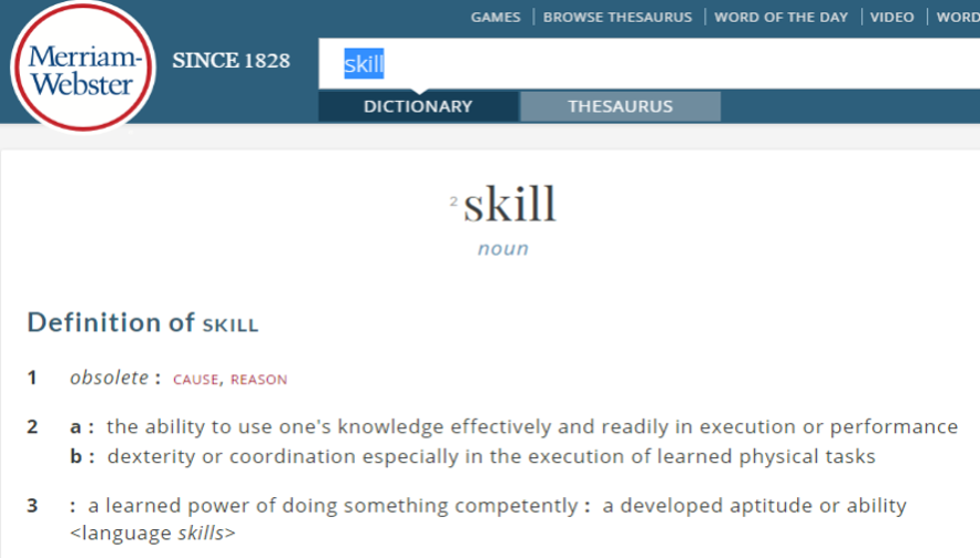 definition skill