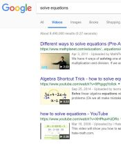 google search solve equations videos