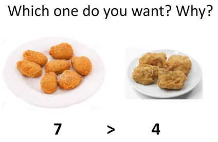 concept of more chicken nuggets more than symbol